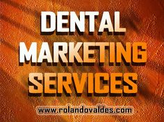An aggressive dental marketing service will help you to attract new patients. Click this site http://rolandovaldes.com for more information on dental marketing services.  Follow Me On: http://seoconsultantmiami.blogspot.com/2015/08/dental-marketing-consultant.html