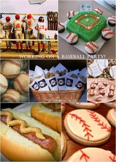 Baseball Birthday Party theme - love the cookies and the peanuts in bags!