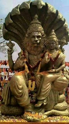 Other Asian Antiques Antique Hindu Traditional Indian Ritual Copper God Narsimha Incarnation Vishnu#2 Evident Effect