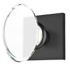 matte black finish oval glass knobs - Bing Images