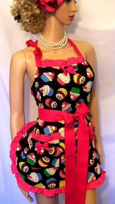 Cupcake Apron Cupcakes APRON Pin up Apron Scotch by UnderTheVeil, $39.99