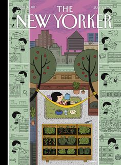 """A look at this week's cover, """"Box Garden,"""" by Ivan Brunetti: http://nyr.kr/144WHJC"""