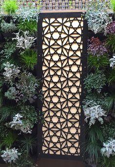 Garden Screen Designs outdoor garden screen Laser Cut Wood Garden Screens Can Make A Plain Wall Look Beautiful And Can Be Placed