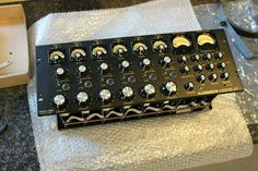 A one-off black prototype Allen & Heath Xone V6, complete with valve stages on each of the 6 inputs (usually only available on the phono inputs, but was an available modification to both, the inputs & the external power supply)
