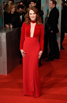 Julianne Moore attends the EE British Academy Film Awards at The Royal Opera House on February 8, 2015 in London, England.