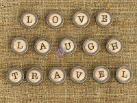 Mechanicals- Words 1 - Love, Laugh, Travel by Prima Marketing found at fotobella.com