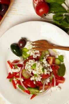 Beefed up Israeli salad. When anyone in Israel tells you they are sending over a healthy salad they mean Israeli Salad.