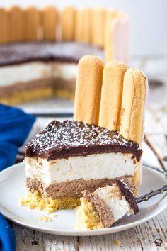 Čokoládovo kokosová mousse šarlota Tiramisu, Mousse, Cheesecake, Ethnic Recipes, Food, Cheesecakes, Essen, Meals, Tiramisu Cake