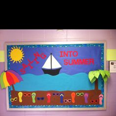 End of school bulletin board. I had fun creating this for Mrs. Finney...it made me really ready for summer!