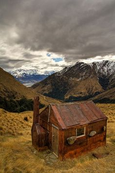 Whakaari Conservation Area, South Island, New Zealand. If memory serves me, you can hire that hut (bit of a walk in though! Must do this one day when Eirin's a bit older. Oh The Places You'll Go, Places To Visit, Beautiful World, Beautiful Places, New Zealand South Island, Destinations, Cabins And Cottages, All Nature, New Zealand Travel