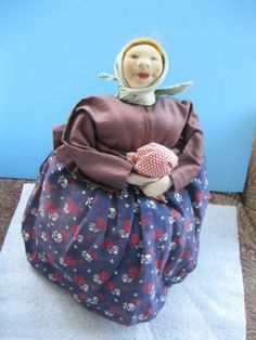 Stockinet-Cloth-30s-Tea-Cozy-Cosy-Russia-Russian-Soviet-Union-Simple-Woman