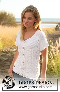 Ravelry: 128-33 Knitted jacket with cables and raglan pattern by DROPS design
