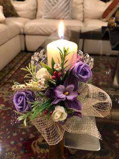 Lantern Centerpiece Wedding, Candle Centerpieces, Centerpiece Decorations, Candle Arrangements, Floral Arrangements, Candle Art, Romantic Candles, Diy Flowers, Crafts