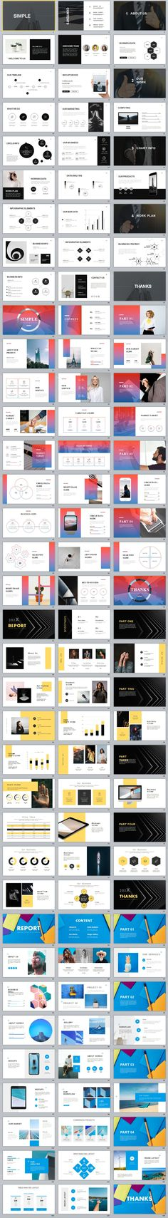 powerpoint 4 in 1 simple useful PowerPoint template This is a simple and clean Powerpoint template that can be used for any type of presentation: business, portfolio, corporate, branding, Powerpoint Design Templates, Professional Powerpoint Templates, Keynote Template, Powerpoint Presentation Slides, Presentation Design, Powerpoint Games, Tool Design, Web Design, Design Art