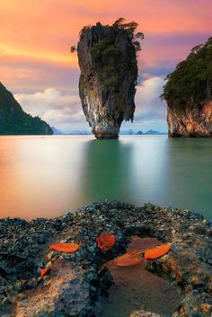 Thailand Travel Inspiration - Ko Khao Phing Kan is an island in Thailand, In Phang Nga Bay northeast of Phuket. Since when it was featured in the James Bond movie The Man with the Golden Gun, Khao Phing Kan has been popularly called James Bond Island Places Around The World, Oh The Places You'll Go, Places To Travel, Travel Destinations, Places To Visit, Around The Worlds, Travel Tips, Thailand Destinations, Travel Hacks