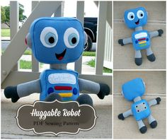 Looking for your next project? You're going to love Huggable Robot Plush by designer HuggablePattern.