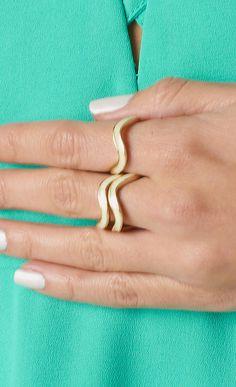 #stacked #ring #swirl #set #white on www.shoppublik.com