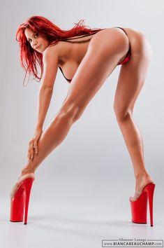 Bianca Beauchamp - Bend Over - Hot Legs Thing 1, Hottest Redheads, Lovely Legs, Red Heels, High Heels, Sexy Ass, Bikini Girls, Hot Girls, Sexy Women