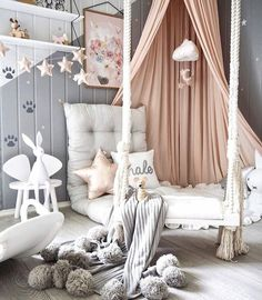 Kid's room inspiration | Joseph Rabbit lamp, Star garland and Cliud mobile are all available at www.istome.co.uk