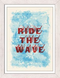 Surfing  print poster Ride the wave collage Surf  by seasideprints, $12.00