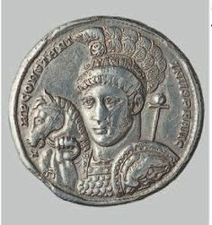 Constantin the Great, silver, Ticinum, The Hermitage Museum.