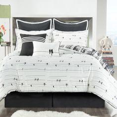 Victoria Classics Woodland Comforter Set in Black & White