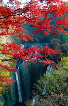 Autumn in Fukuroda Waterfall, Daigo, Ibaraki, Japan