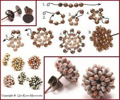 seed bead tutorials for beginners Bead Jewellery, Seed Bead Jewelry, Seed Bead Earrings, Diy Earrings, Hoop Earrings, Beaded Earrings Patterns, Seed Bead Patterns, Beading Patterns, Earring Tutorial