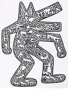 34 best keith haring prints images on pinterest keith haring art keith haring dog with center filling print malvernweather Gallery