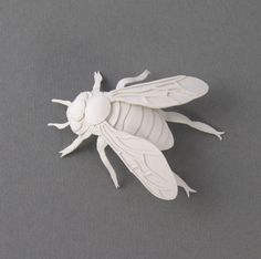Bee Miniature Paper Sculpture