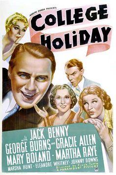 """College Holiday"" Starring Jack Benny, Burns & Allen, Martha Raye & Mary Boland 1936"