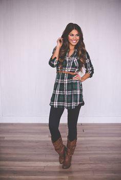 Dottie Couture Boutique - Belted Plaid Dress-Green, $42.00 (http://www.dottiecouture.com/belted-plaid-dress-green/)