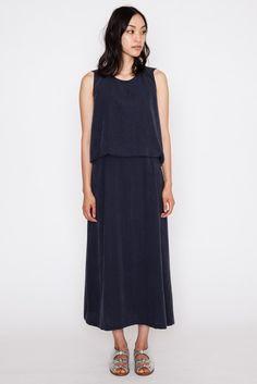 Poppy Black Jellyfish Shell Back Long Dress
