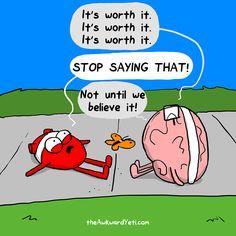 The Awkward Yeti : keep at it, Brain #exercise