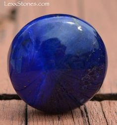 Natural Deep Royal Blue Lapis Lazuli Round Button by LexxStones, $15.00