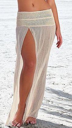Idea para falda de playa o piscina.                                                                                                                                                                                 Más
