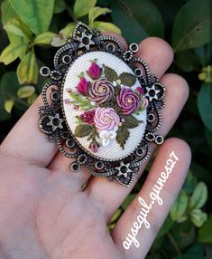 Bullion Stitch Roses Custom Necklace and Ring Mother Gift bracelet Pendant Floral Necklace Vintage Jewelry raised floral design Embroidery Jewelry, Diy Embroidery, Embroidery Patterns, Unique Necklaces, Handmade Necklaces, Handmade Jewelry, Vintage Jewelry, Brazilian Embroidery, Floral Necklace