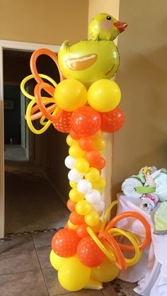 1000 images about baby shower ideas on pinterest for Balloon decoration instructions