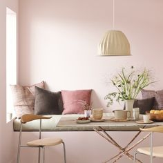 Love the pinks and mauves balanced with the Drabware tones.