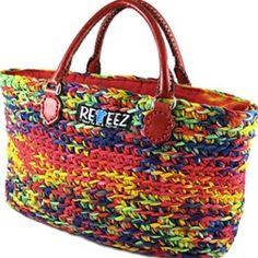 recycling purses bags | home purses and handbags recycled crocheted t shirt handbags
