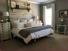 Simply beautiful farmhouse master bedroo 28 #HomeDecorBedrooms