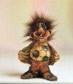 stolzer Fussballer 17cm Troll, Teddy Bear, Animals, Athlete, Proud Of You, Football Soccer, Figurine, Animales, Animaux