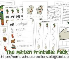 Free Printable Pack for The Mitten