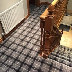 This has to be our most popular tartan by far! Why not call in and see what we can do for your home? Grey Tartan Carpet, Armagh, Carpet Stairs, Carpets, Plaid, Popular, Interior Design, Luxury, Pattern