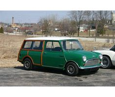 A Mini Woody station wagon...our's was blue.
