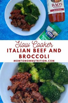 Slow Cooker Italian Beef and Broccoli: Forget takeout and take what you know about beef and broccoli and try this kid-friendly, comfort spin. All with the help and ease of your slow cooker! Slow Cooker Italian Beef, Slow Cooker Beef, Slow Cooker Recipes, Crockpot Recipes, Dinners To Make, Weeknight Dinners, Easy Dinners, Healthy Beef Recipes, Healthy Lunches