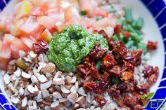 Farro con verdure e mandorle - le ricette di lacucinavegetariana.it