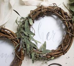 ON THE BLOG: DIY Bride and Groom Chair Wreaths - - - #chairsigns #DIYwedding #brideandgroomsigns #brideandgroom #weddingideas #weddinginspiration #thelittlebluechair