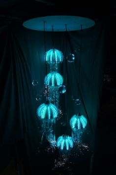 """Medusa"" Jellyfish – Contemporary Chandelier Company Ltd Blue glass modern lamp for living room, bedroom. Awesome light decoration for you. Bedroom Lamps, Bedroom Lighting, Bedroom Decor, Budget Bedroom, Bedroom Ideas, Tumblr Lamp, Diy Tumblr, Elegant Home Decor, Elegant Homes"