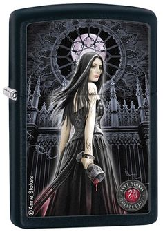 Zippo Gothic Lighter Anne Stokes Collection 5 No 28858 on black matte - New